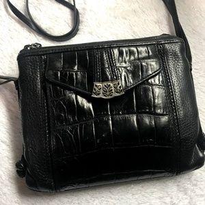Vintage Brighton Leather Crossbody Bag in Black